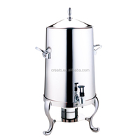 Buffet food juice 5 Gallon acrylic container with fuel holder milk dispenser