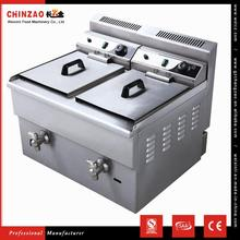 CHINZAO China Hot Sale Snack Food Machine Commercial Automatic Donut Deep Gas Fryer