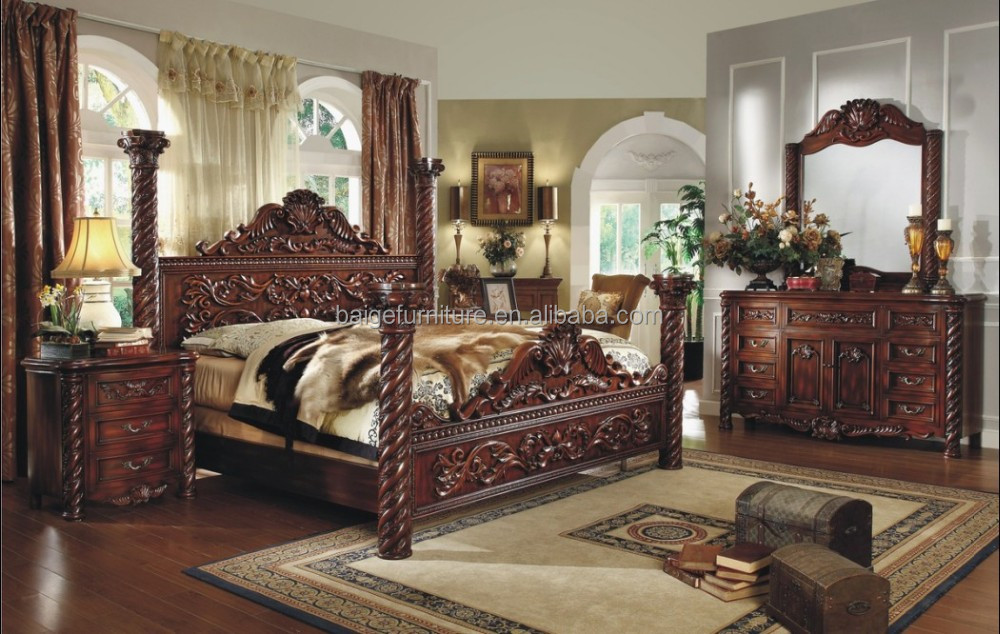 F 8008 European Style Luxury Bedroom Furniture King Canopy Bed   Buy King  Canopy Bed,Luxury Bedroom Furniture,King Canopy Bed Product On Alibaba.com