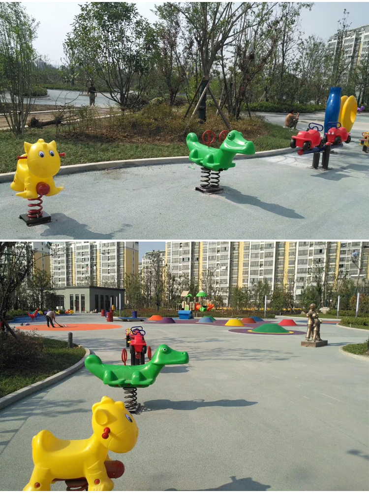Outdoor playground spring rider