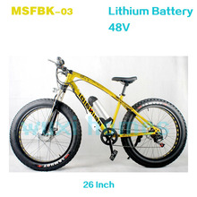 Factory Low Price Electric Fat Snow Bicycle Fat Tire 26x4.0 Mountain Bike