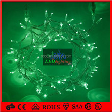 Outdoor Festival lighted christmas decoration Green color led fairy light