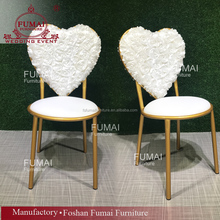 heart fabric back aluminum frame wholesale latest banquet chairs