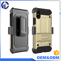 3 In 1 Combo Shell Holster Clip Cell Phone Case For Iphone X,New Hot TPU PC Kickstand Phone Accessories