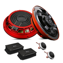 Glass Fiber 6.5 Inch 2 Way Car Audio Sound Speaker System Component Kits