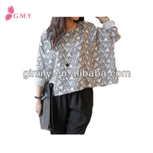 Adult contemporary boat neck shirt women unique blouses designs fat ladies