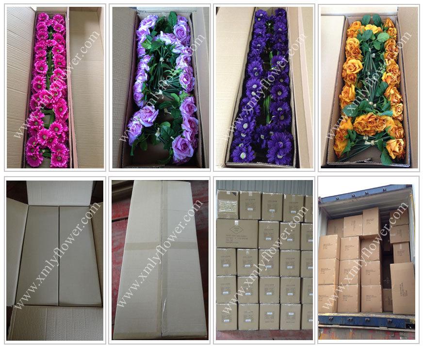 H27cm flores de seda buquê de buquê de casamento