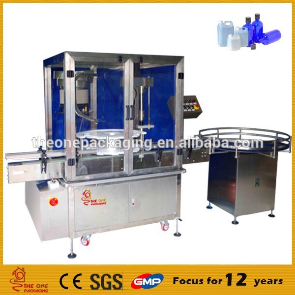 high quality CE approval fully automatic plastic perfume glass aluminium bottle screw pump flip-top capping machine