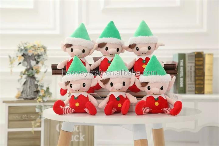 promotion gift plush toys christmas toys soft stuffed cute naughty elf toy
