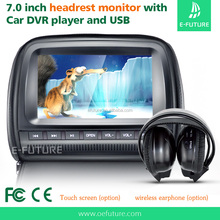 "7""inch Touch screen car headrest monitor,DVD play"