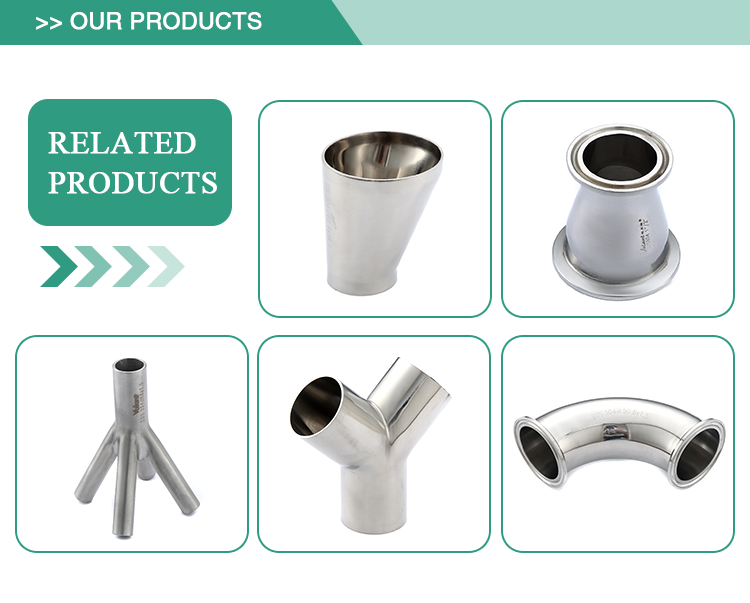 Manufactruer direct selling long type food grade welded elbow with straight ends