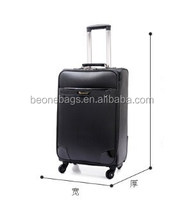 Customzied Made Factory Price Royal Black Travel Suitcase With Wheel Luggage