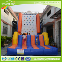 Inflatable Kids Rock Climbing Wall, Adventure Climbing Games, cheap inflatable climbing wall