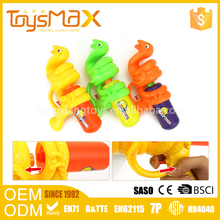 Best selling plastic snake shape backpack funny toy water gun for children