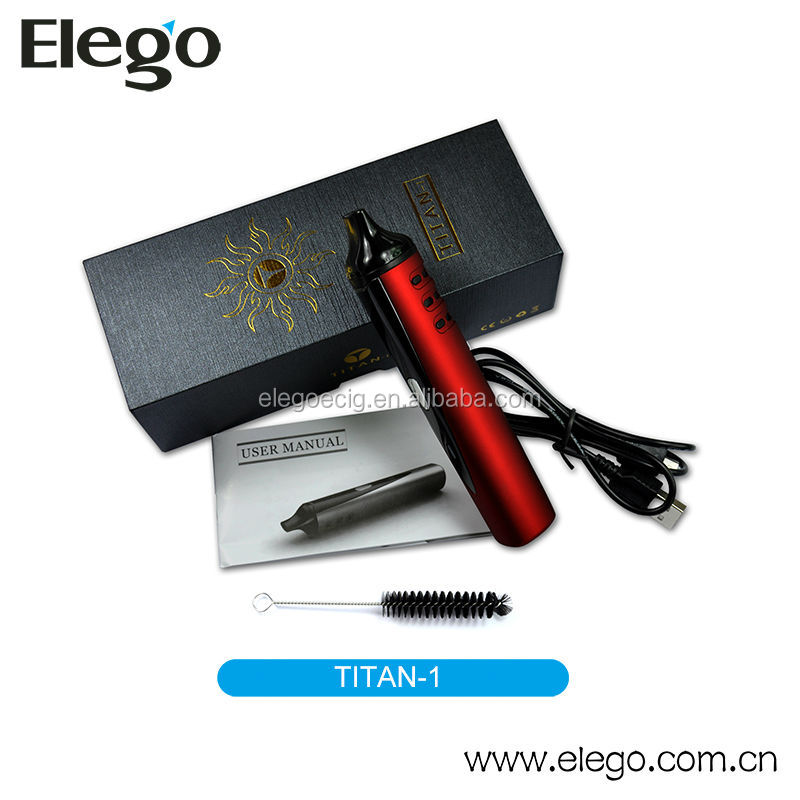 2014 latest E-cigarette Dry Herb Vaporizer Kit Titan-1 with High Quality