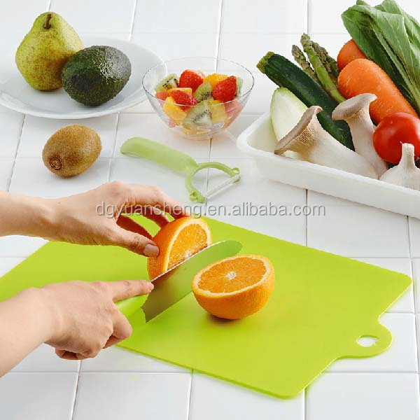 manufacturer sell safety eco-friendly plastic chopping board with tray