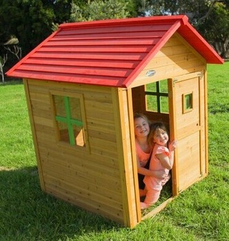 Prefabricated cheap wood kids playhouse used outdoor for Cheap outdoor playhouses