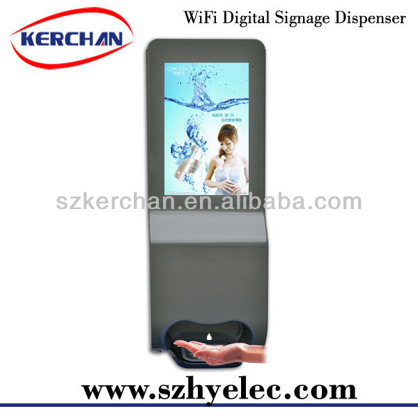 wifi digital signage auto soap dispenser Hand Free Alcohol Dispenser