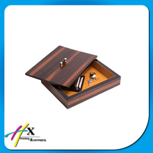 luxury custom design wooden valet tray for men