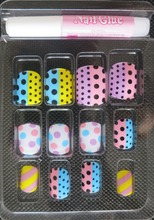 High quality artificial fingernails/false nail /fake nail tips acrylic nail art set with full cover type