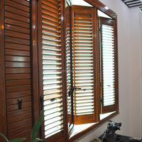 Aluminium Frame Louver Glass Window With
