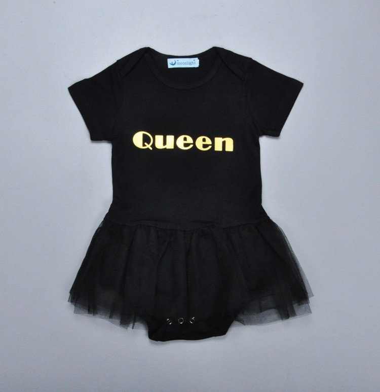Lace Flying Sleeve Baby Rompers Summer Newborn Jumpsuit Baby Girl Clothing Layette Solid Cute Girl Romper Kids black Clothes