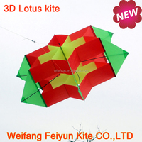 New design 3D box lotus flower kite from the kite factory