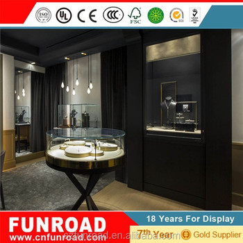 Funroad modern MDF high quality watch display counter for watch store design