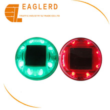 Round Solar led cat eye plastic road stud