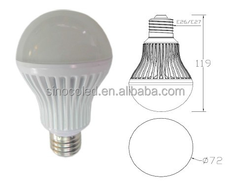 high quality/ul cul list/china factory price led bulb 9w e27 led light bulbs replacement fluorescent bulbs