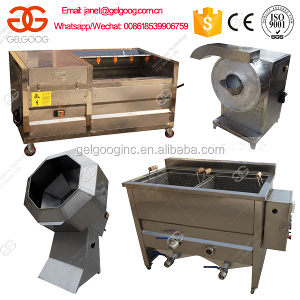 Small Potato Frozen French Fries Production Line Semi Automated French Fries Machine