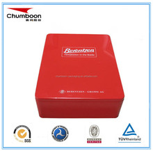 high quality rectangle chocolate biscut valentine christmas tin box packaging
