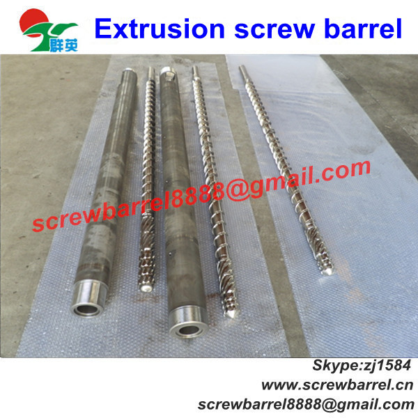 hdpe ldpe lldpe extruder bimetallic screw and barrel / cylinder for film inflation