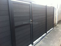 European Market Fencing Aluminum Frame Wood Plastic Composite Board WPC Garden Fence, Outdoor WPC Fencing