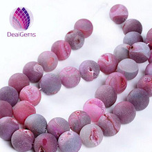 natural frosted rose red geode loose gemstone prices agate beads