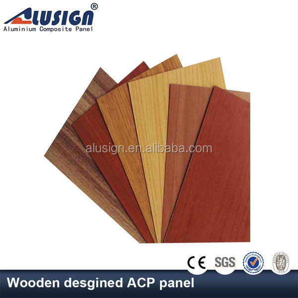 Alusign high precision outdoor wooden design decorative acp acm aluminum panels
