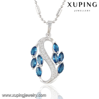 "32716 XUPING fashion ""S"" alphabet glass pendant designs for women"