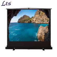 portable floor stand pull up projector screen