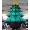 2017 hot sell giant christmas tree inflatable for christmas decoration