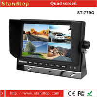 7 inches tft lcd color portable car dvd player mirror monitor