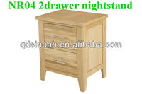solid oak 2 drawer bedside table/night stand