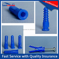 Best quality white plastic nylon hammer drive nail anchor