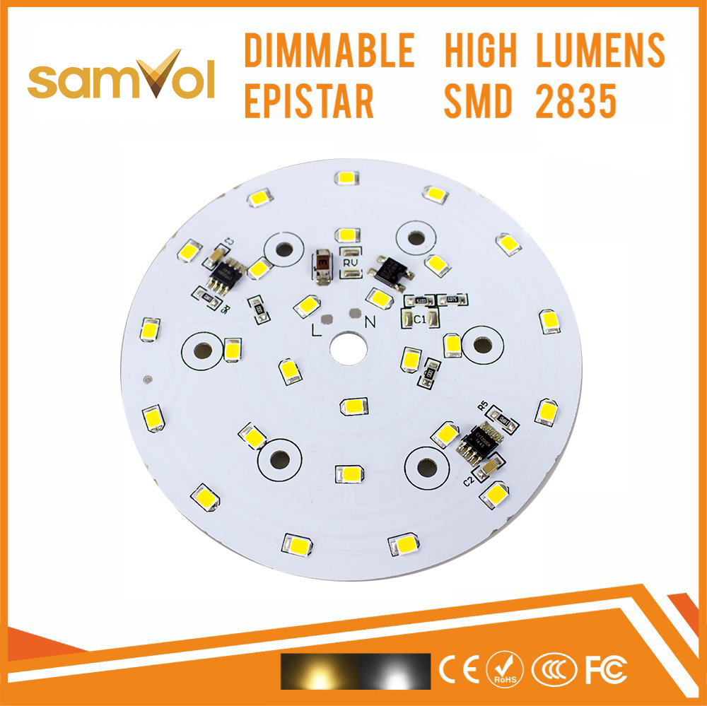 Customized round 220v led Aluminum PCB Board for bulb 3w 5w 7w 9w 12w 15w 18w 21w