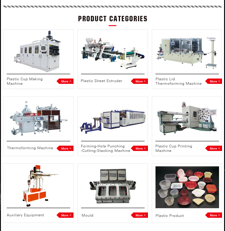 SINOPLAST Automatic Disposable Plate Thermoforming Vacuum Packaging Machine For Plastics