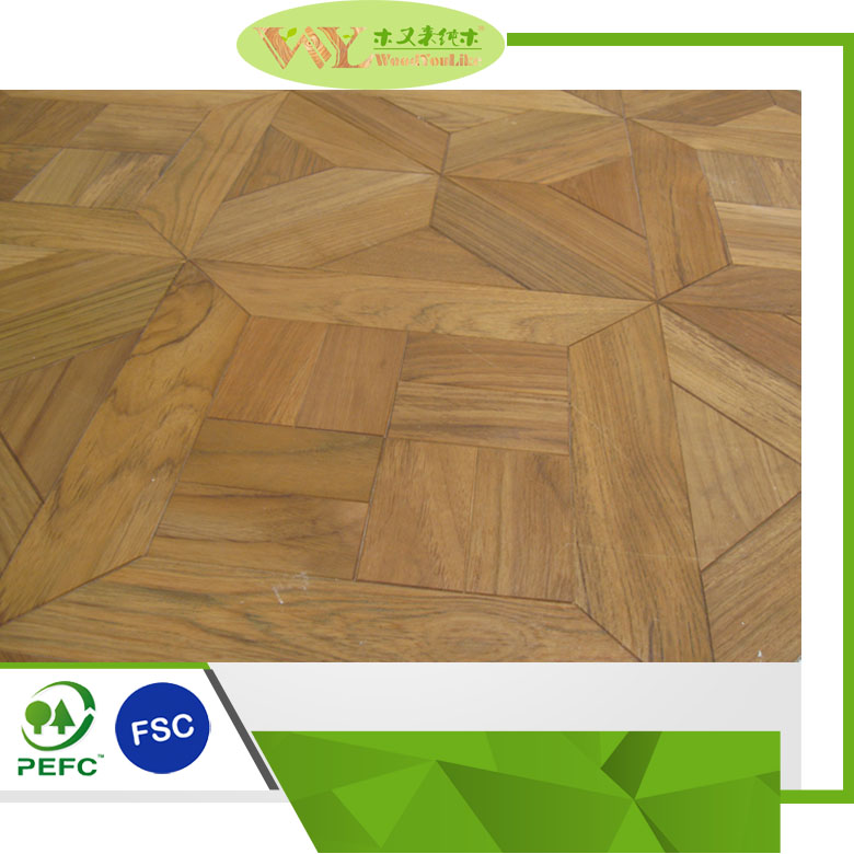 Bruma Parquet Indoor Teak Flooring Eco-friendly Teak Flooring