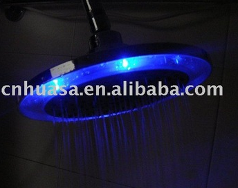 LED shower Chrome Multi-Function LED overhead shower
