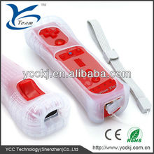 high quality for wii remote controller bulit-in motion plus with silicone case and wrist strip