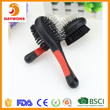 Double sided pet comb Bath massage brush&stainless steel shedding comb for Cats/Dogs