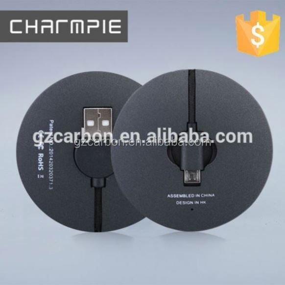 High quality slim usb home charger with built in cable/power charger