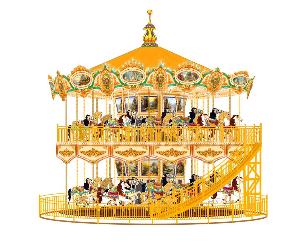 hot sale entertainment park ride amusement games merry go round carousel horse for sale